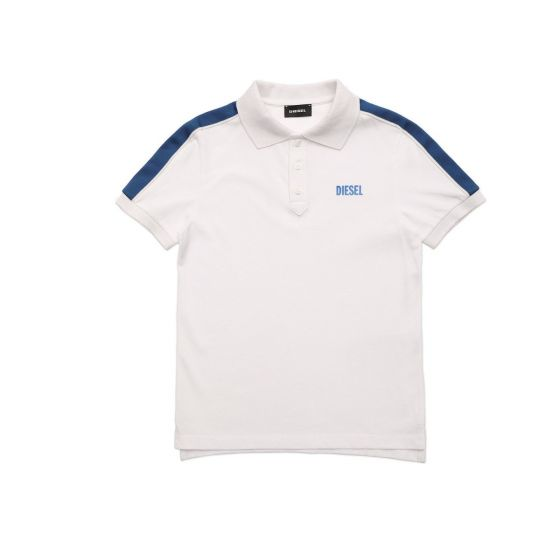 Polo Shirt With Striped Bands