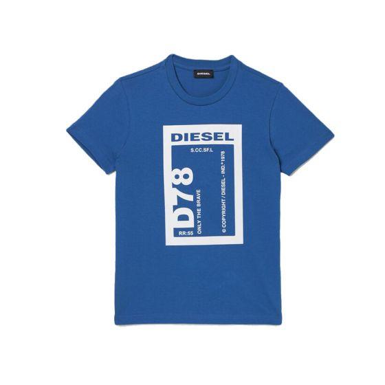 Blue T-shirt With Contrasting Print