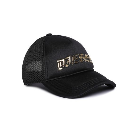 Baseball Cap With Metal Lettering