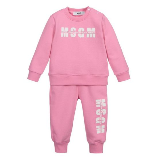 Pink Cotton Jersey Tracksuit