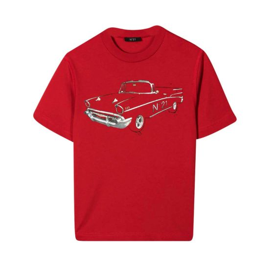 Red T-shirt With Graphic Print