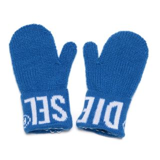 Blue Winter Gloves With Logo