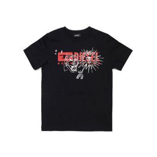 Logo Graphic Print Black T-shirt