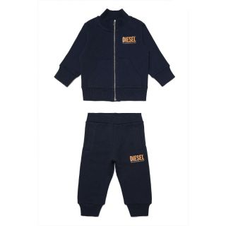 Navy Blue Cotton Tracksuit For Baby Boy