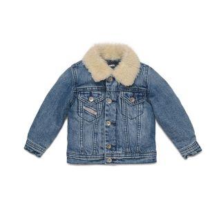 Teddy Denim Jacket For Baby Boy