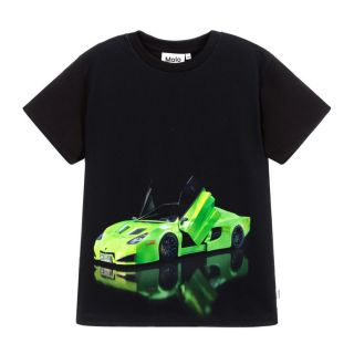 Teen Boys Black Car T-Shirt