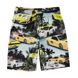 Teen Yellow & Black Shorts