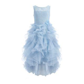 Light Blue Corset Dress With Ballet Tutu Skirt