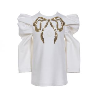 Girls Sequins Bow Dress