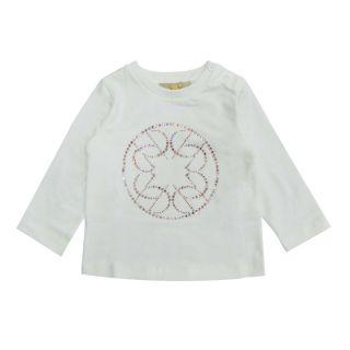 Girls Sequins White T-shirt
