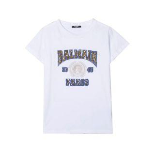 Sequin Embellished Cotton T-Shirt