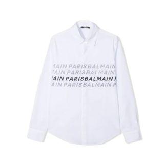 Repeated Logo Print Shirt