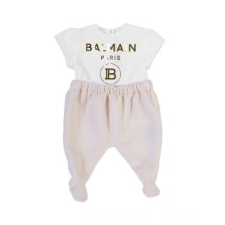 Logo Print Short Sleeved Babygrow