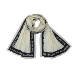 Off-White Logo Embroidered Tape Scarf