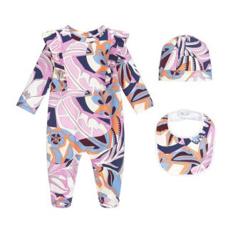 Purple Pink Babygrow Set