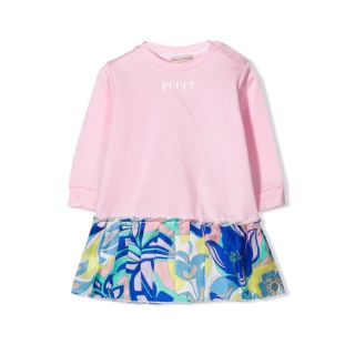 Floral Print Trim T-Shirt Dress