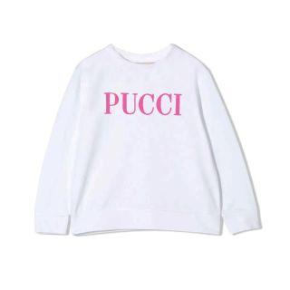 Emilio Pucci Cotton White Sweatshirt With Patterned Logo