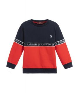 Blue & Red Logo Sweatshirt