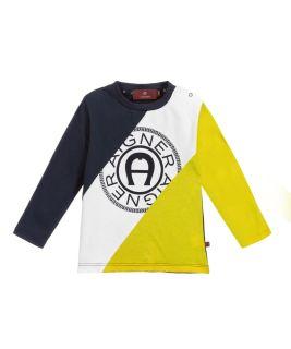 Blue & Yellow Cotton Baby T-shirt