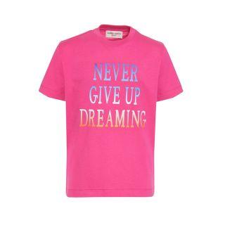 Never Give Up Slogan Print T-shirt