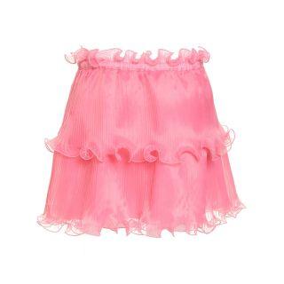 Pleated Ruffled Skirt