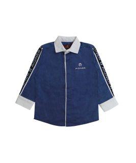 Boys Navy Blue Blue Logo Shirt