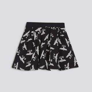 Boy Kids Repeat Skirt-Black/White