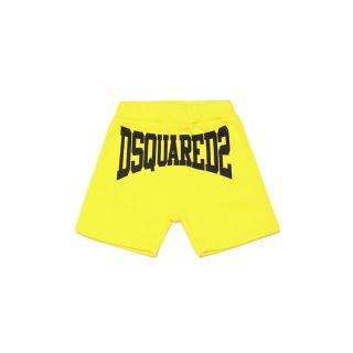 Logo-Print Yellow Track Shorts