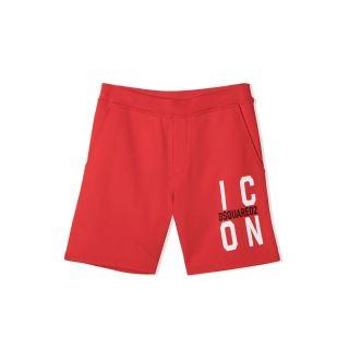 Logo Print Red Shorts