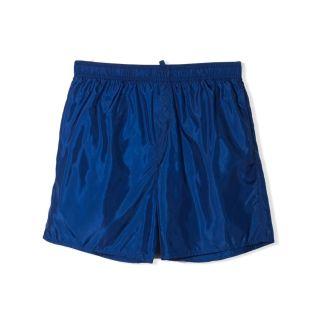 Blue Logo Print Swim Shorts