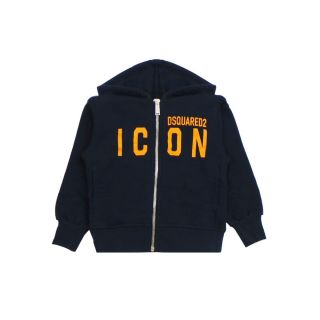 Icon Print Zip-up Jacket With Hood