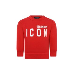 Logo-Print Red Sweatshirt For Baby