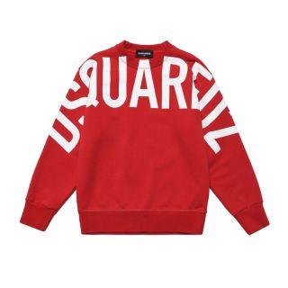 Bold Logo Unisex Red Sweatshirt