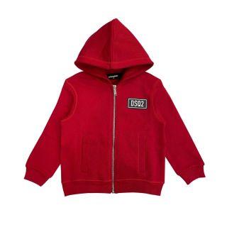 D2Kids DSQ2 Zip Hooded Unisex Jacket - Red