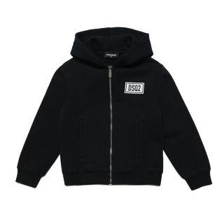 D2Kids DSQ2 Zip Hooded Unisex Jacket - Black