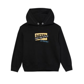 Black Sweatshirt With Print And Embroidered Tape - Unisex