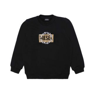 Sweatshirt With Double Logo For Girl