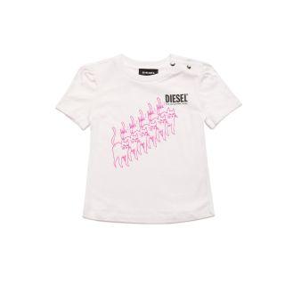 White Cotton T-shirt With Logo