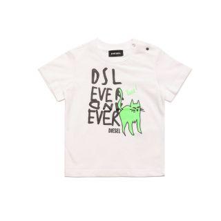 Shiny Matte Rubbe Print T-shirt