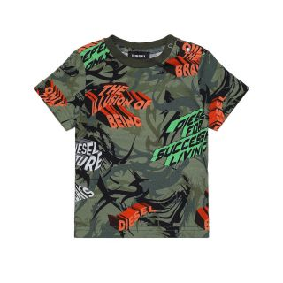 T-shirt With All-Over Jungle