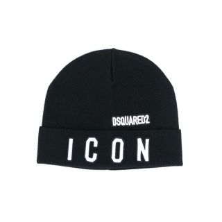 Logo-Embroidered Black Beanie