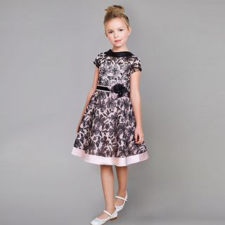 Elegant Dress Made Of Printed Lace