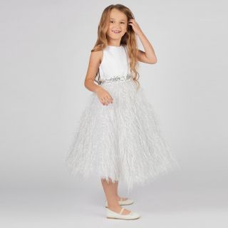 Charming Fluffy Skirt Dress With Flowing Feathers