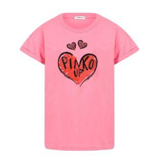 Heart Print Pink T-shirt