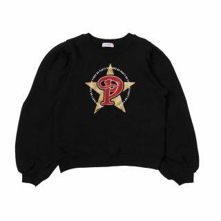 Girls Sequins Logo Patch Sweatshirt