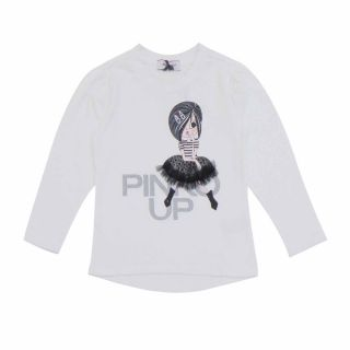 Baby Girls Pinko Up White T-shirt