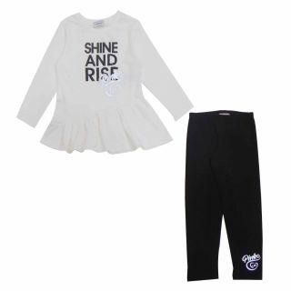 Girls Shine And Rise Print T-shirt & Leggings Set