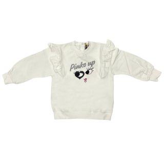 Girls White Logo Sweatshirt