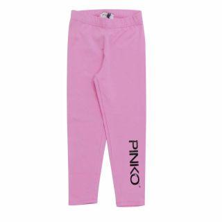 Girls Black Logo Pink Leggings