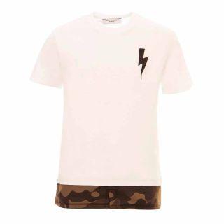 Boys Camouflage Printed Hem T-shirt